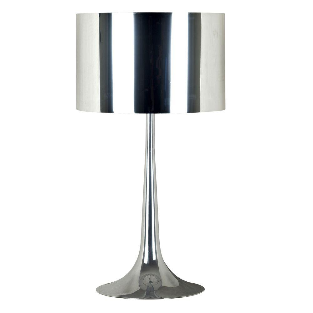 Kenroy Home Keystone 26 in. Chrome Table Lamp-DISCONTINUED