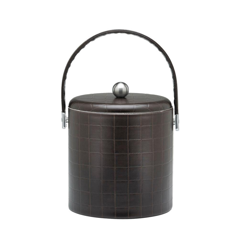Kraftware Chelsea Domino Truffle 3 qt. Ice Bucket with Domed Lid-DISCONTINUED