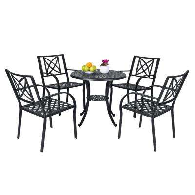 Paracelsus 5 Piece Aluminum Round Outdoor Dining Set