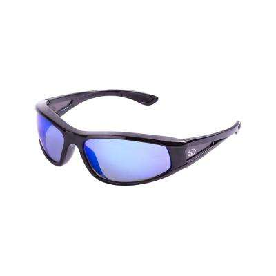 Stainless Blue Steel Lens Safety Glasses