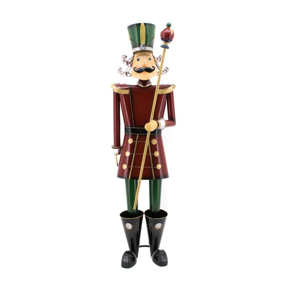 Zaer Ltd. International 59 in. Tall Christmas Nutcracker with Baton ...
