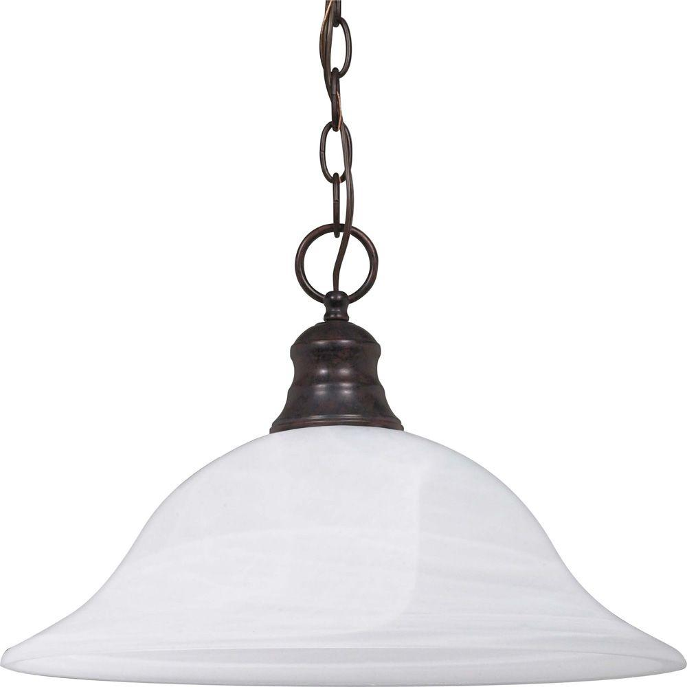Glomar 1-Light Old Bronze Dome Pendant