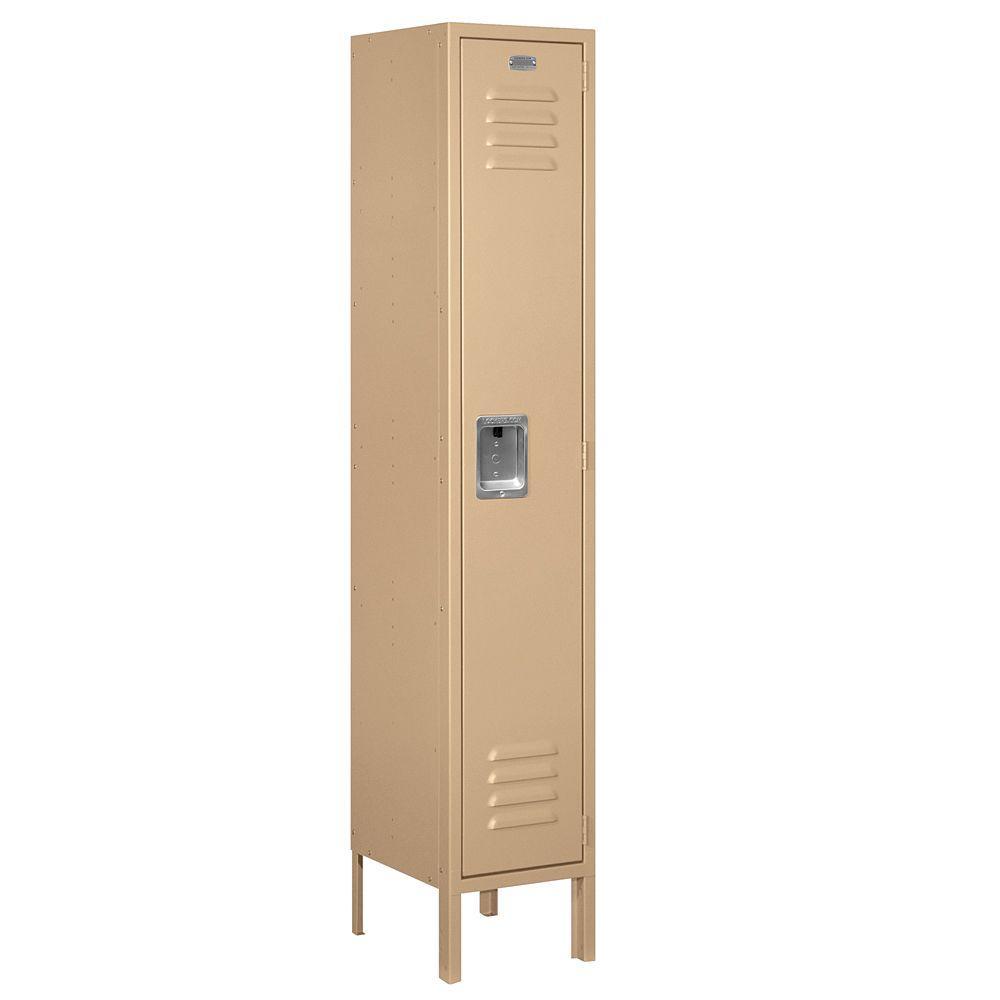 Salsbury Industries 61000 Series 12 in. W x 66 in. H x 12 in. D Single Tier Metal Locker Unassembled in Tan