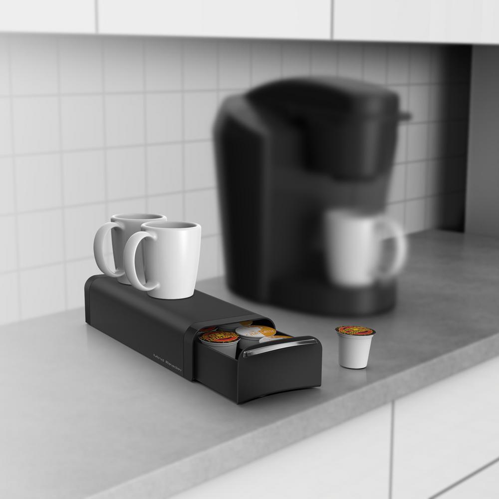 Mind Reader Slim 12 Capacity Black K Cup Storage Drawer