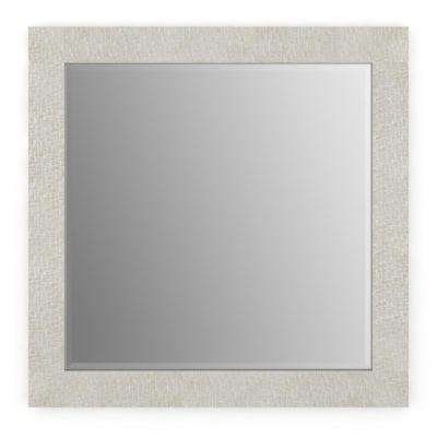 33 in. x 33 in. (L2) Square Framed Mirror with Deluxe Glass and Flush Mount Hardware in Stone Mosaic