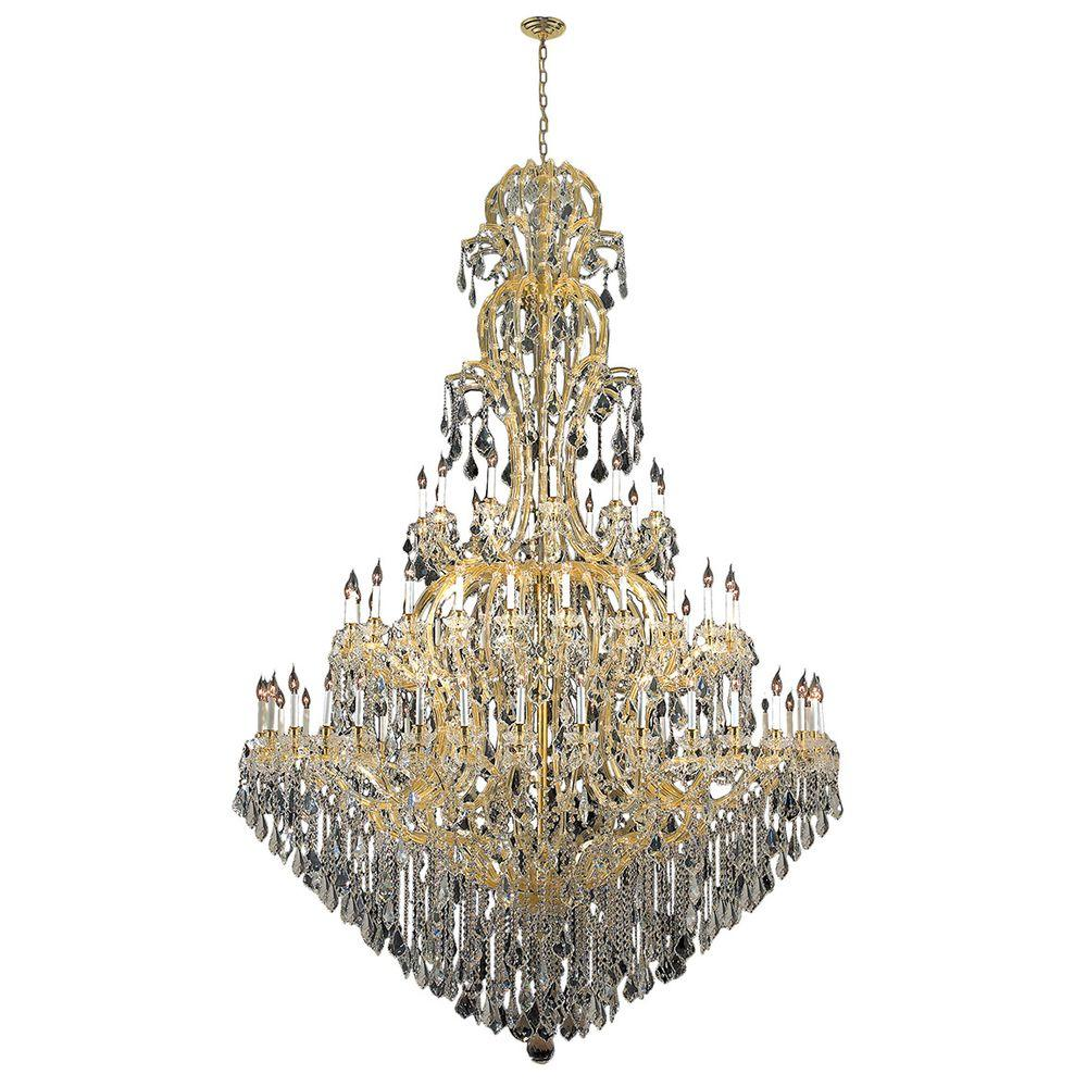 Yvette Crystal Chandelier: Worldwide Lighting Maria Theresa 72-Light Gold With Clear