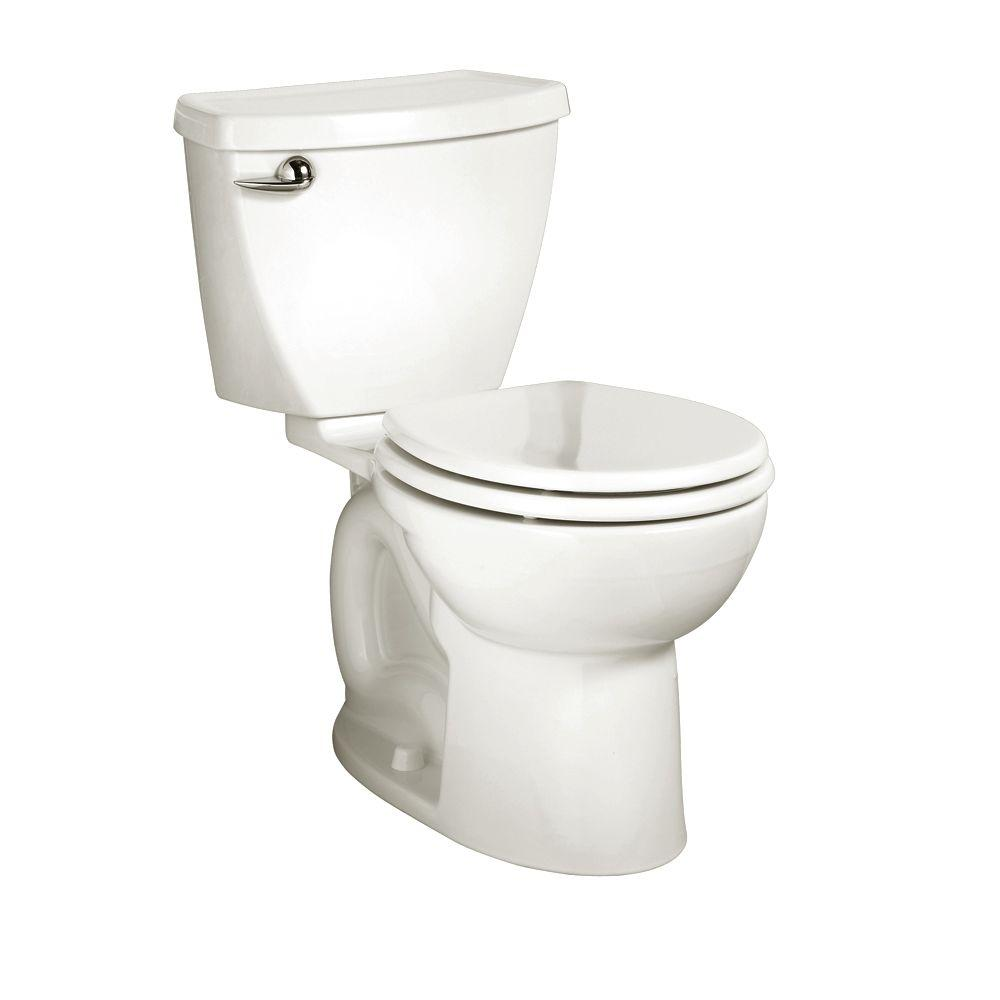American Standard Cadet 3 Powerwash 10 in. Rough-In 2-Piece 1.6 GPF Single Flush Round Toilet in White, Seat Not Included