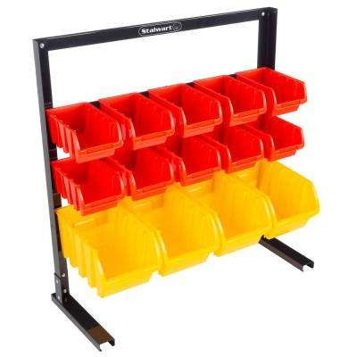 14-Compartment Small Parts Organizer Rack