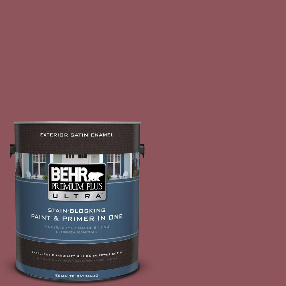 BEHR Premium Plus Ultra 1-gal. #PMD-33 Fragrant Cherry Satin Enamel Exterior Paint