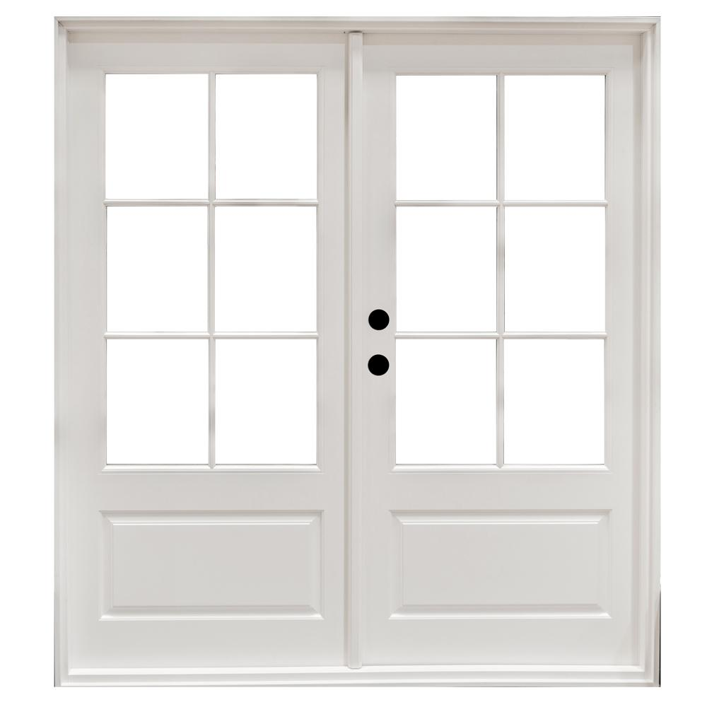 Steves and sons 72 in x 80 in mini blind primed white - Installing prehung exterior door on concrete ...