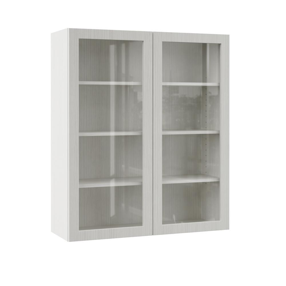 Kitchen Cabinet Doors Replacement Home Depot: Hampton Bay Designer Series Edgeley Assembled 36x42x12 In