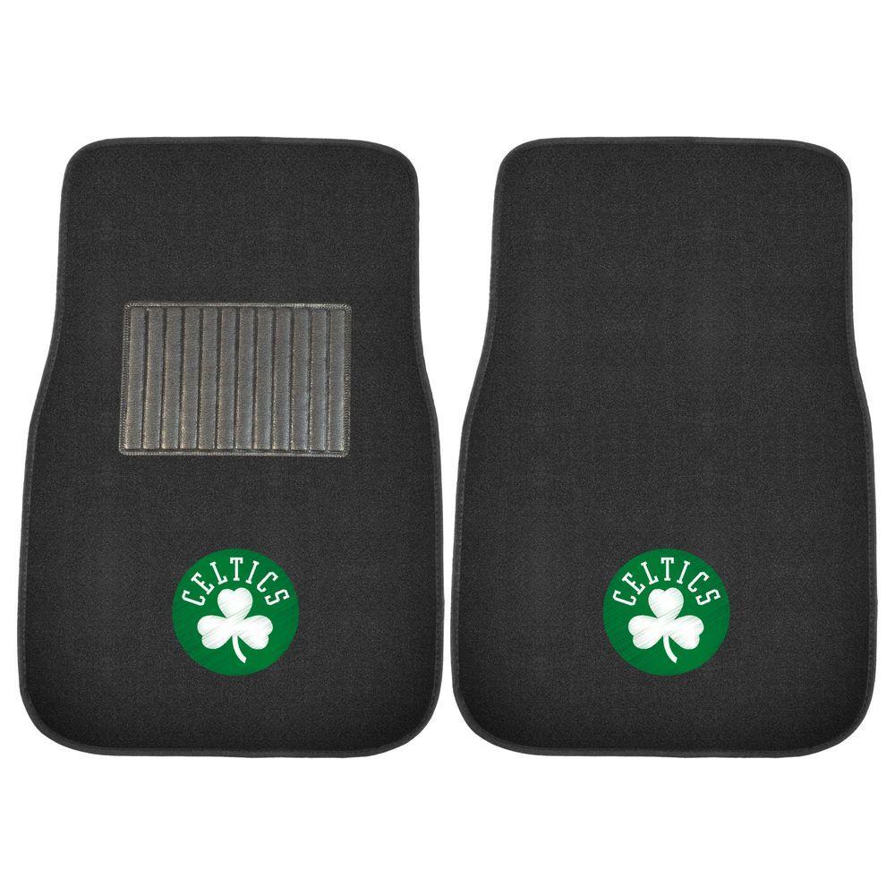 NBA Boston Celtics 2-Piece 17 in. x 25.5 in. Carpet Embroidered Car Mat