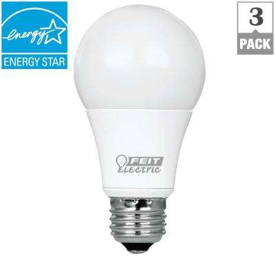 60W Equivalent Soft White (2700K) A19 Dimmable CEC Title 24 Compliant LED Energy Star Light Bulb (3-Pack)