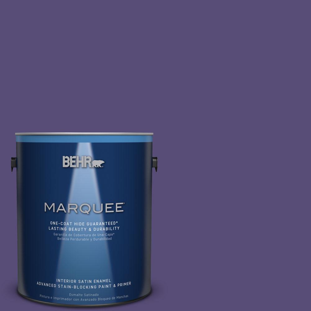 1 gal. #MQ5-42 Perpetual Purple One-Coat Hide Satin Enamel Interior Paint