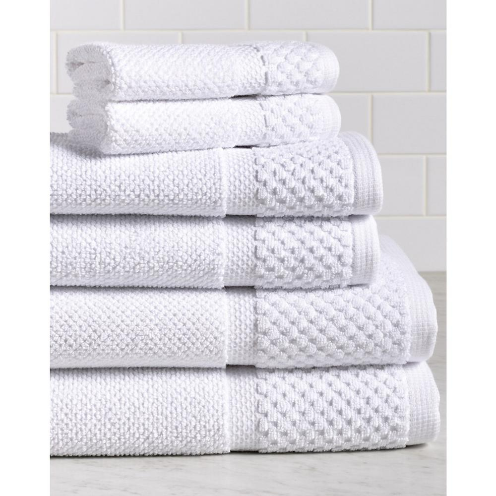 Espalma Diplomat 6 Piece 100 Cotton Bath Towel Set In White