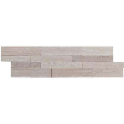 Winter Oak Veneer Peel and Stick 6 in. x 22 in. Honed Slate Wall Tile (13.80 sq. ft. / case)