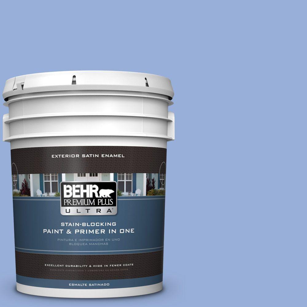 BEHR Premium Plus Ultra 5-gal. #590B-4 Anemone Satin Enamel Exterior Paint