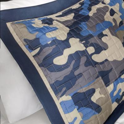 Andrew Blue Abstract Coverlet Quilt Set