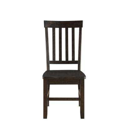 Maisha Rustic Walnut Side Chair (Set of 2)