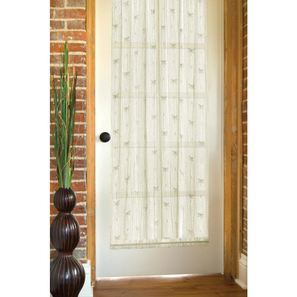 Incroyable Heritage Lace Dragonfly Ecru Lace Door Panel