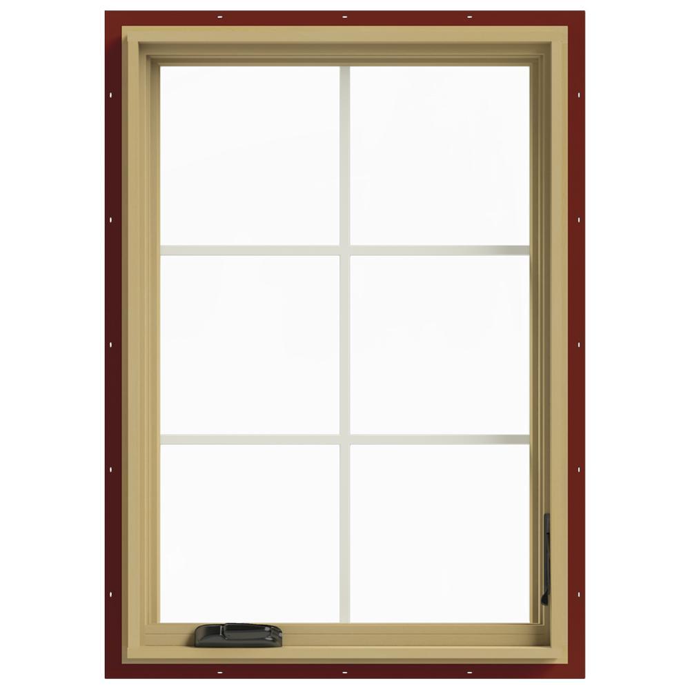 28 in. x 40 in. W-2500 Right Hand Casement Aluminum Clad Wood Window