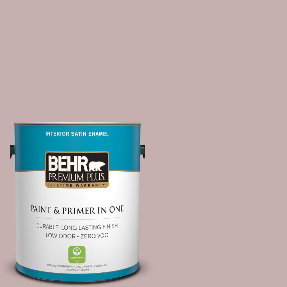 BEHR Premium Plus 1-gal. #120E-3 Subdued Hue Zero VOC Satin Enamel Interior Paint