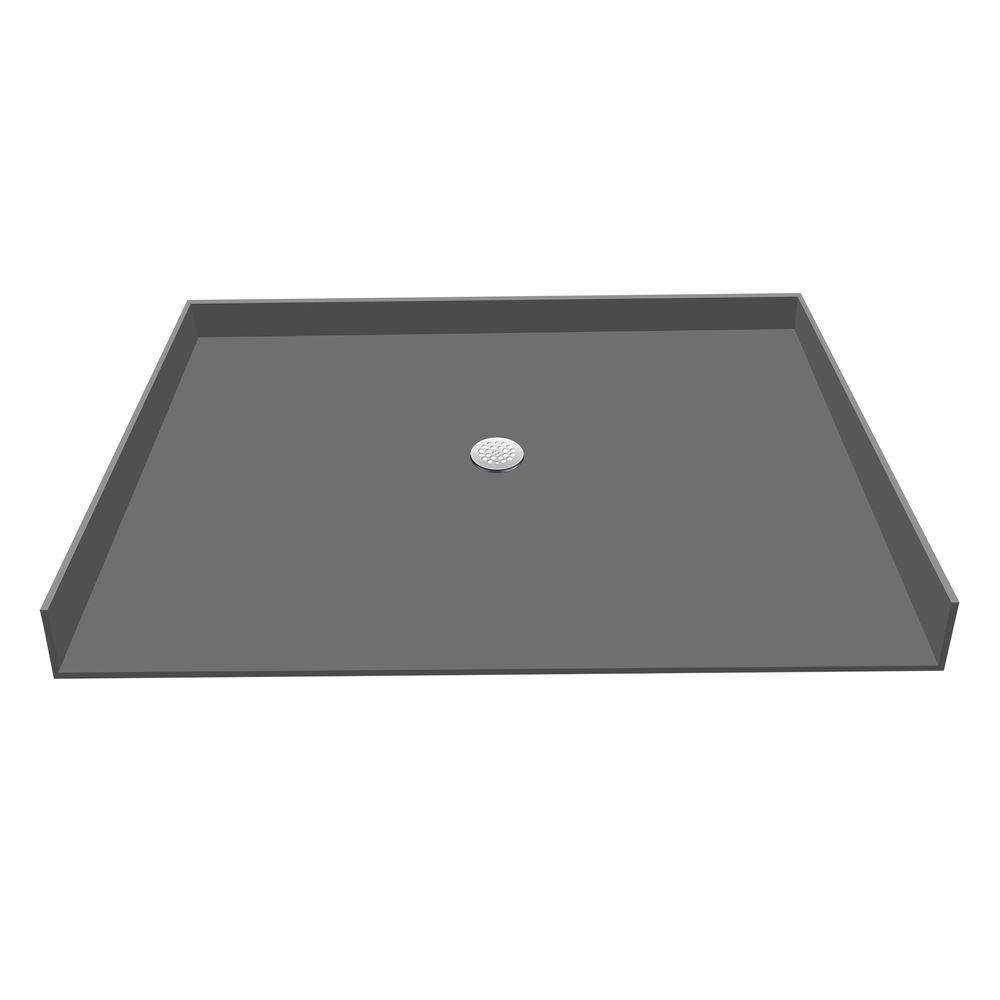 Redi Base 34 in. x 63 in. Barrier Free Shower Base with Center Drain