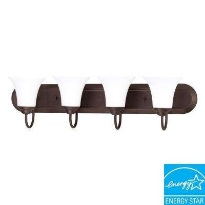 4-Light Dark Chocolate Bronze Bath Vanity Light