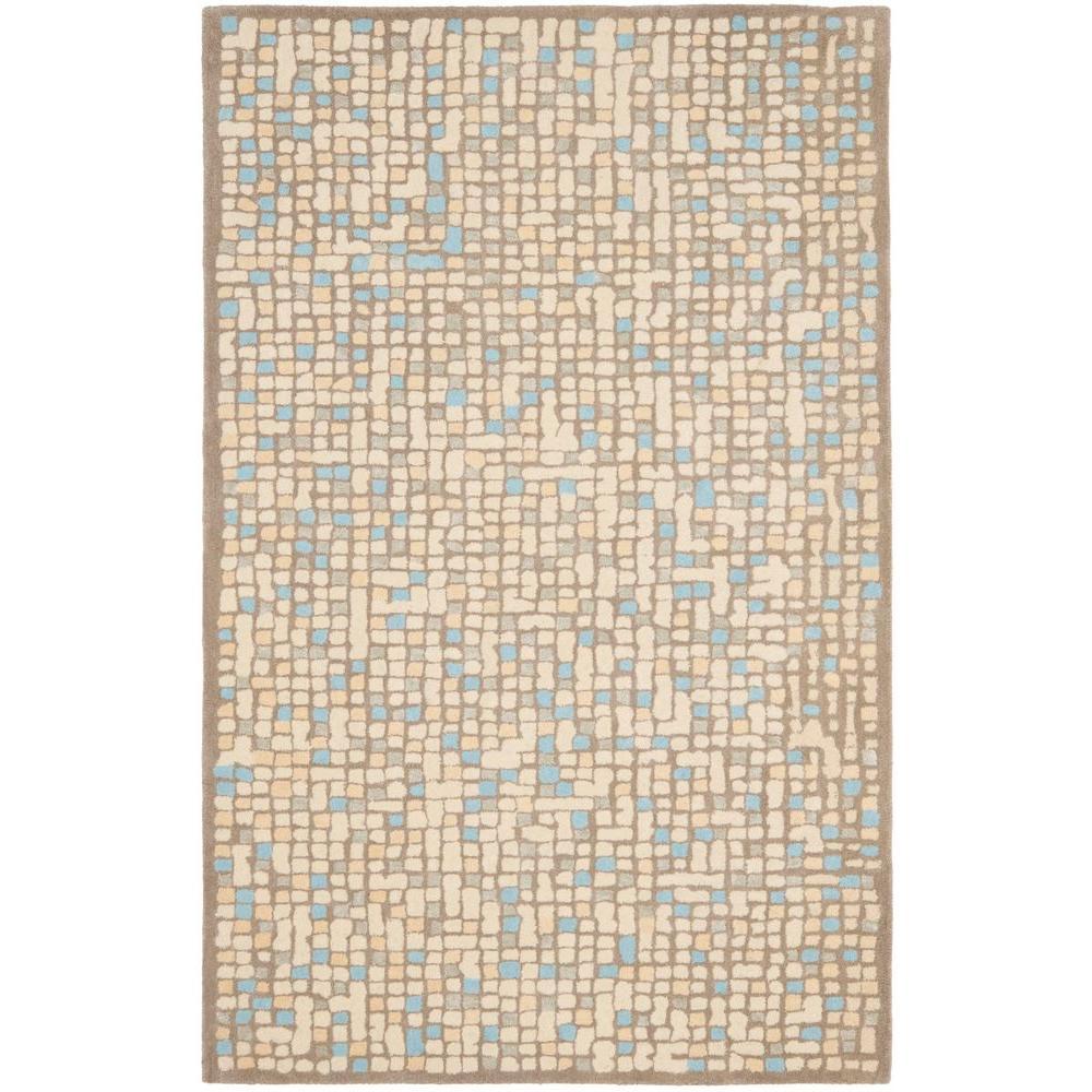 Mosaic Cornucopia Beige/Beige 5 ft. x 8 ft. Area Rug