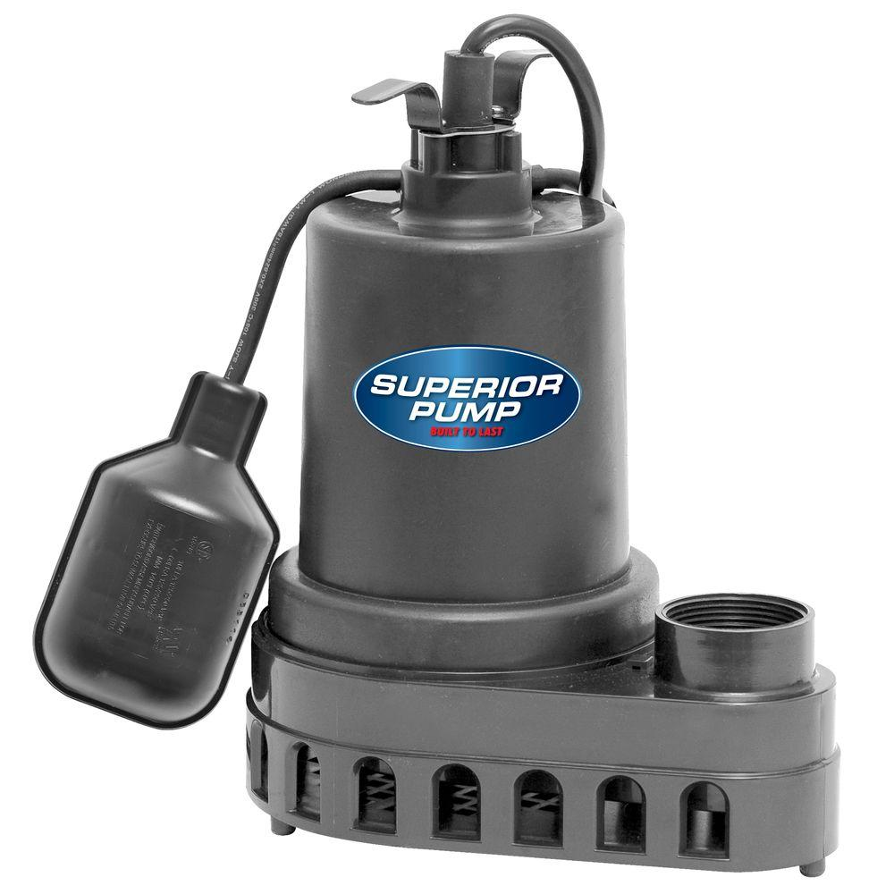 Superior Pump 1/2 HP Submersible Thermoplastic Sump Pump