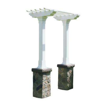 Heritage 103 in. x 36 in. Fieldstone Single Beam Maintenance-Free Arbor