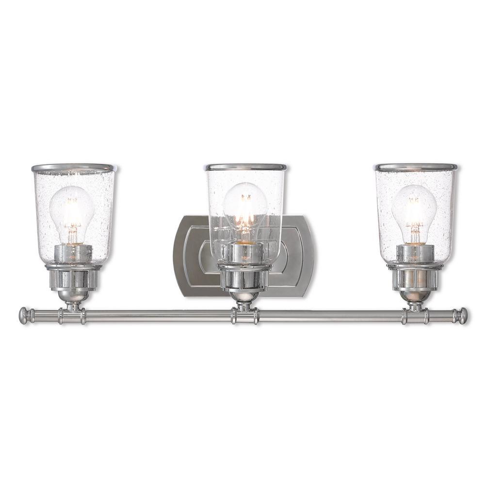Lawrenceville 3-Light Polished Chrome Bath Light