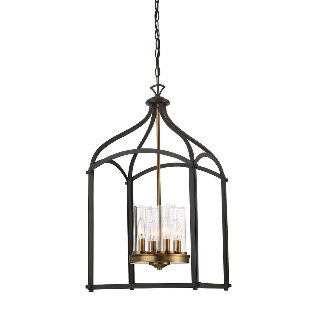 designers fountain avondale 4-light oil-rubbed bronze foyer pendant-87654-orb