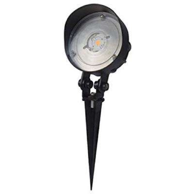 Low-Voltage 921-Lumen Black Outdoor Integrated LED Adjustable Landscape Spot Light
