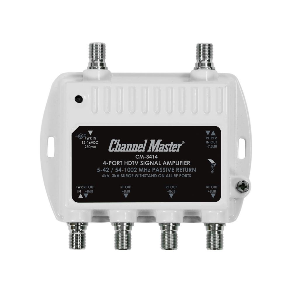 Channel Master 4 Port Ultra Mini Distribution Amplifier
