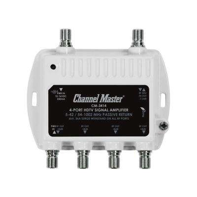 4-Port Ultra Mini Distribution Amplifier, TV Signal Booster and Splitter