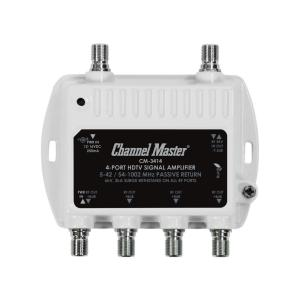channel master wiring diagram channel master 4 port ultra mini distribution amplifier  tv signal  ultra mini distribution amplifier