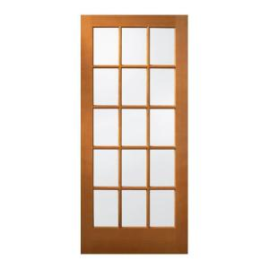 Jeld Wen 36 In X 80 In 15 Lite Unfinished Wood Front