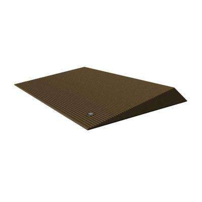 TRANSITIONS Brown Rubber Threshold Mat with Beveled Edges 25 in. L x 40 in. W x 2.5 in. H