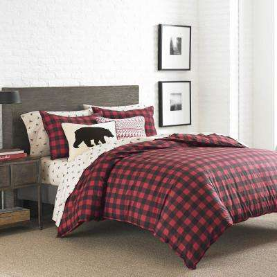 Mountain 2-Piece Scarlet Twin Duvet Cover Set