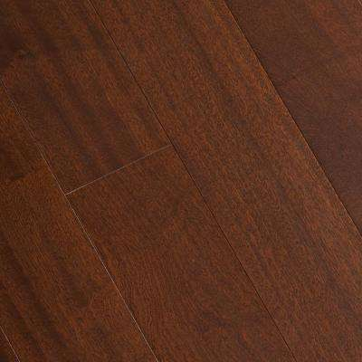Matte Bailey Mahogany 3/8 in. Thick x 5 in. Wide x Varying Length Click Lock Hardwood Flooring (19.686 sq. ft. /case)