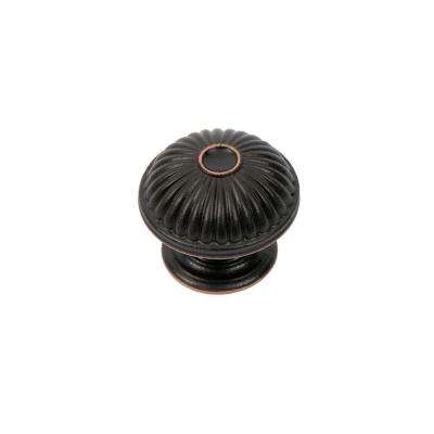 Vintage 1-1/2 in. Oil-Rubbed Bronze Round Cabinet Knob
