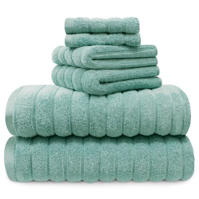 100% Cotton 6-Piece Spa Towel Set in Turquoise