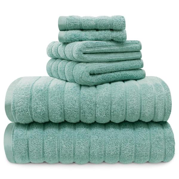 3434603d22a2 100% Cotton 6-Piece Spa Towel Set in Turquoise YMT008334 - The Home ...
