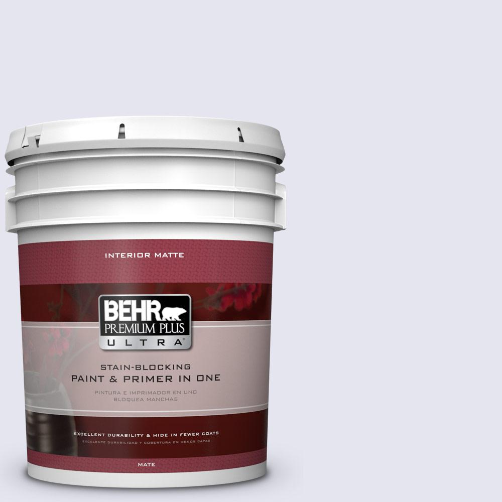 BEHR Premium Plus Ultra 5 gal. #630E-1 Dreamy Cloud Flat/Matte Interior Paint