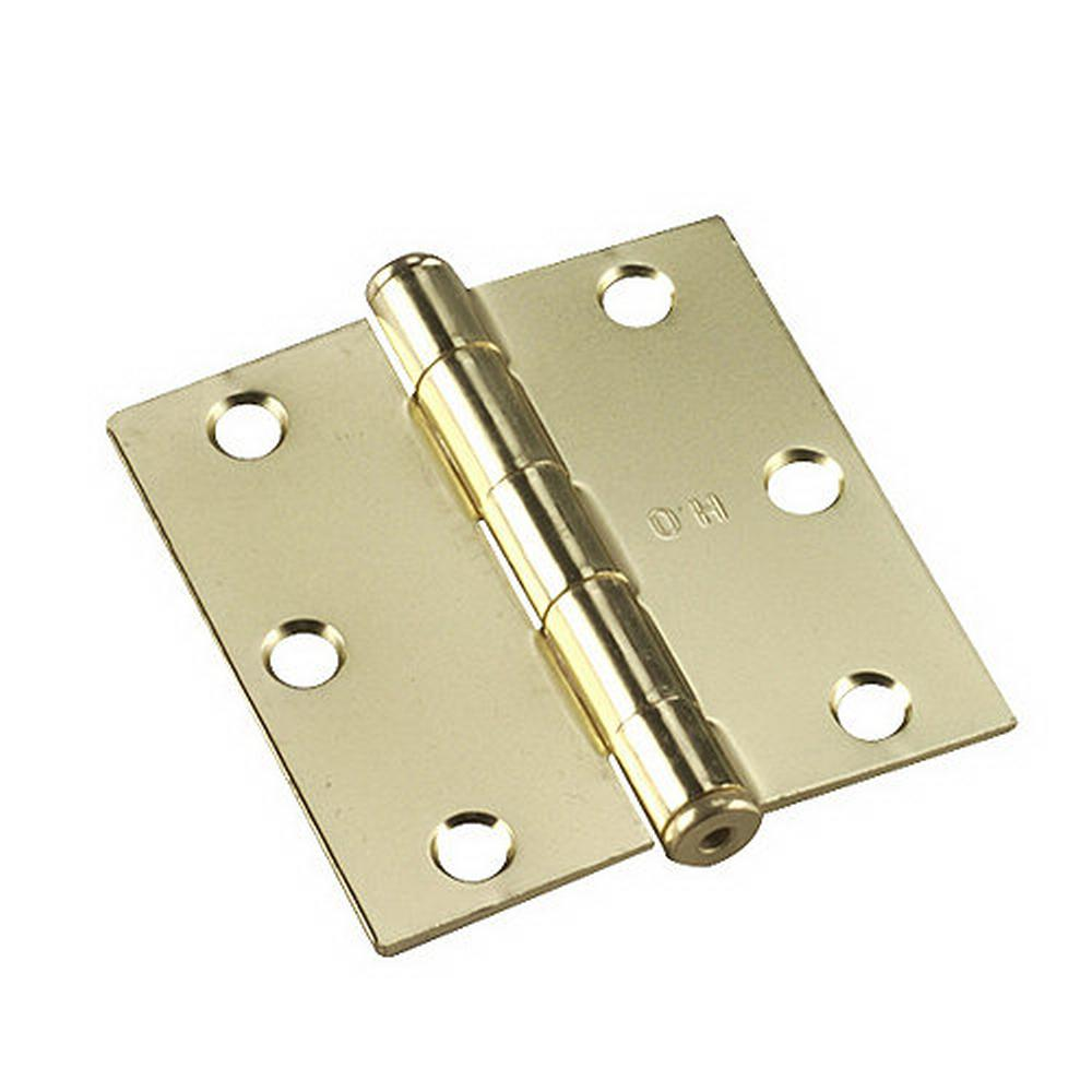 Richelieu Hardware Full Mortise Inset Brass Hinge (1-Pair)