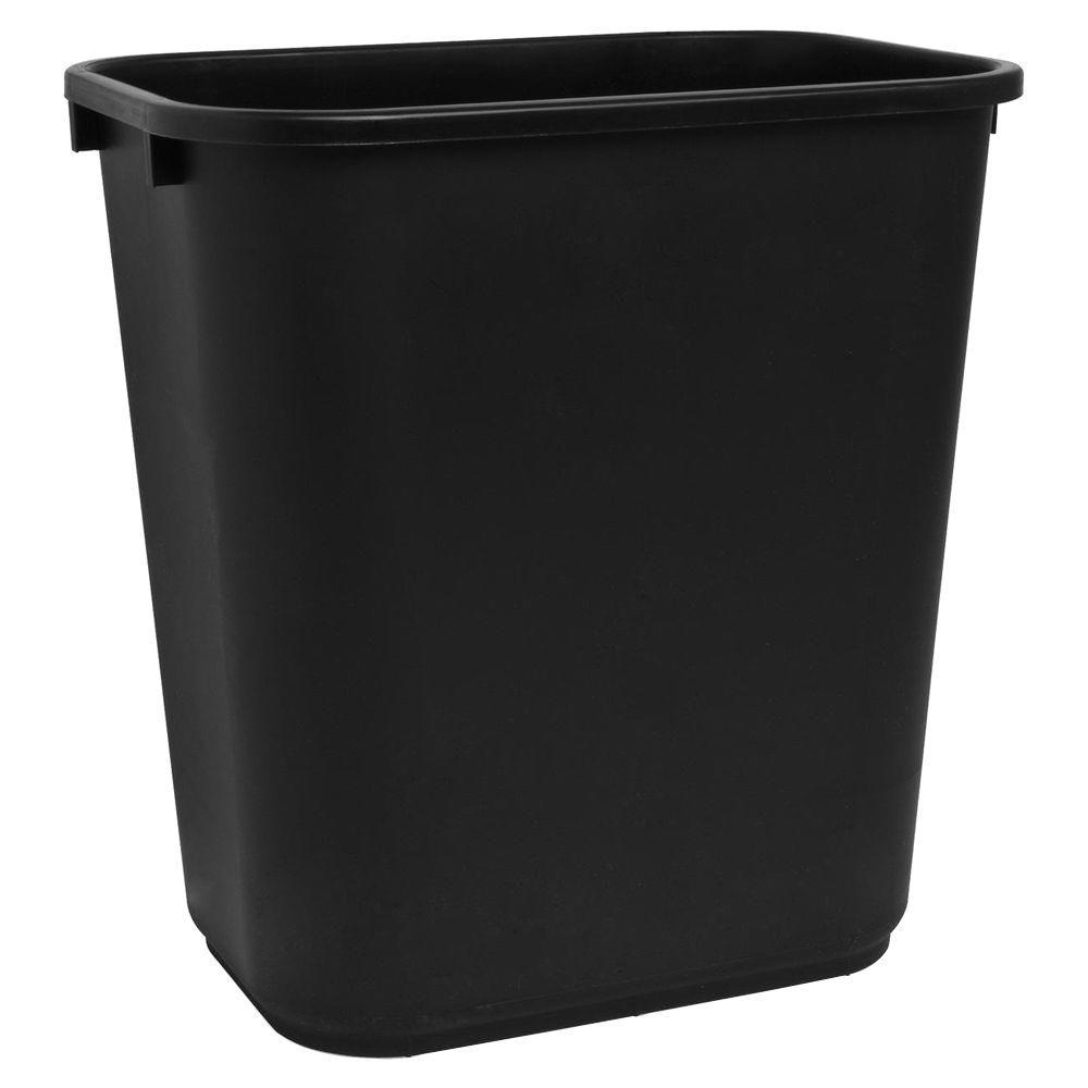 7 Gal. Black Rectangular Trash Can