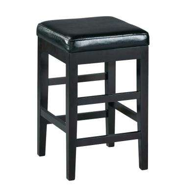 24 in. Black Cushioned Counter Stool