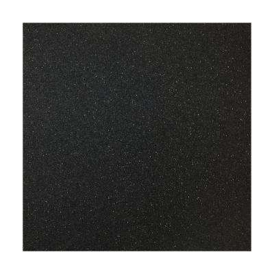 36 in. x 79 in. x 5 mm Black Rubber Flooring