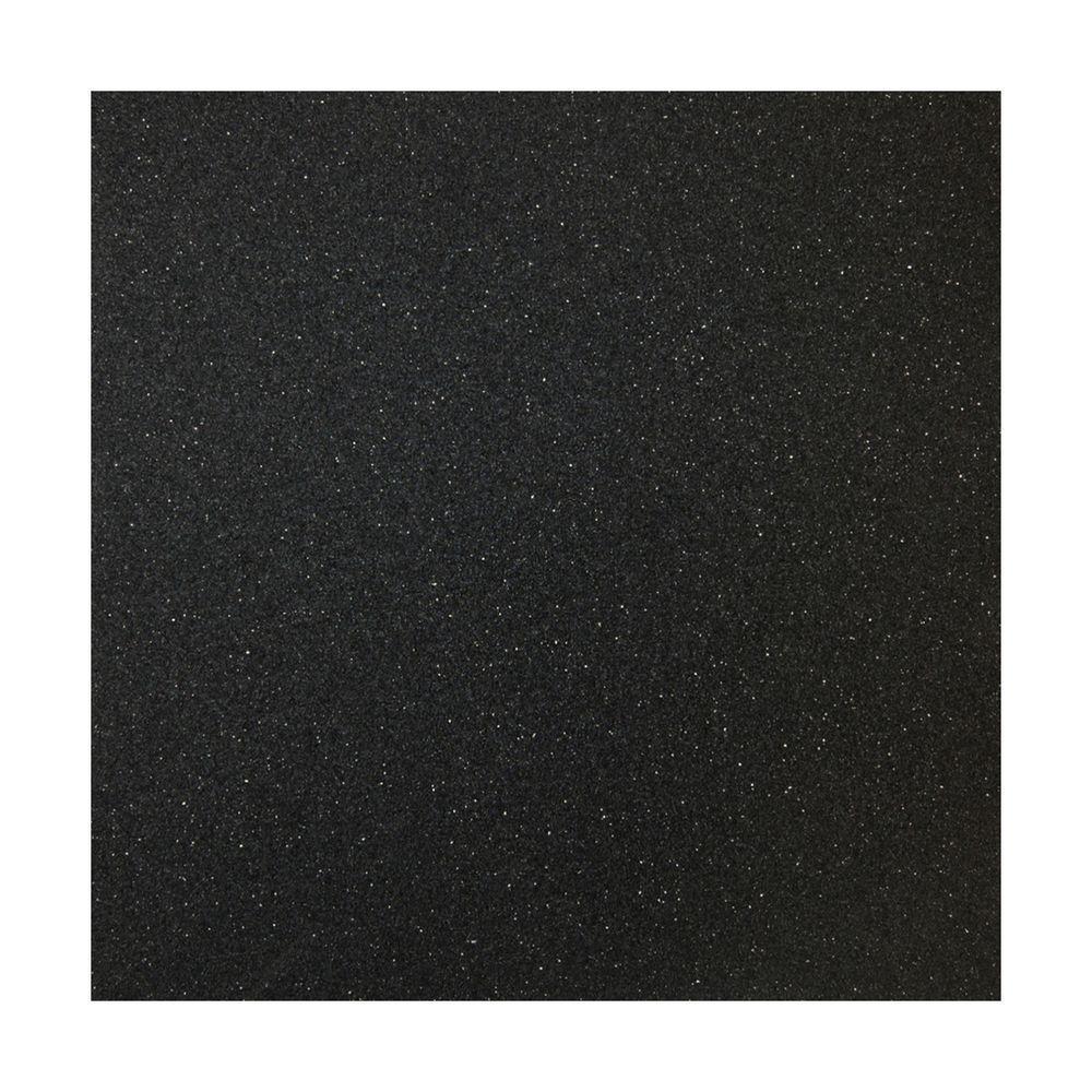 Multy Home 36 in. x 79 in. x 5 mm Black Rubber Flooring